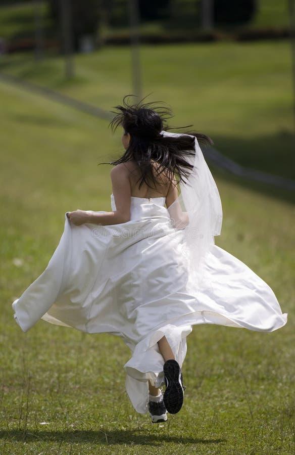 3个新娘逃亡 库存照片