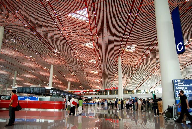 3个机场北京资本终端 免版税库存图片