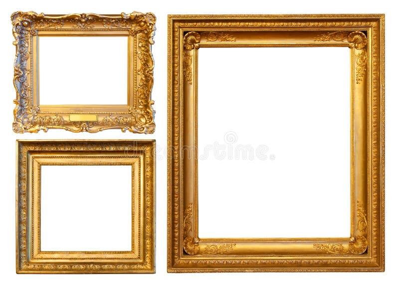 3个框架金子 免版税库存照片