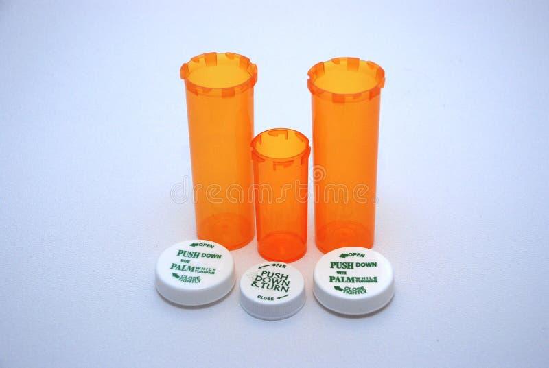 3个瓶制作的医学 免版税库存照片
