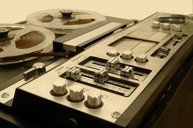 3个甲板老磁带 库存图片