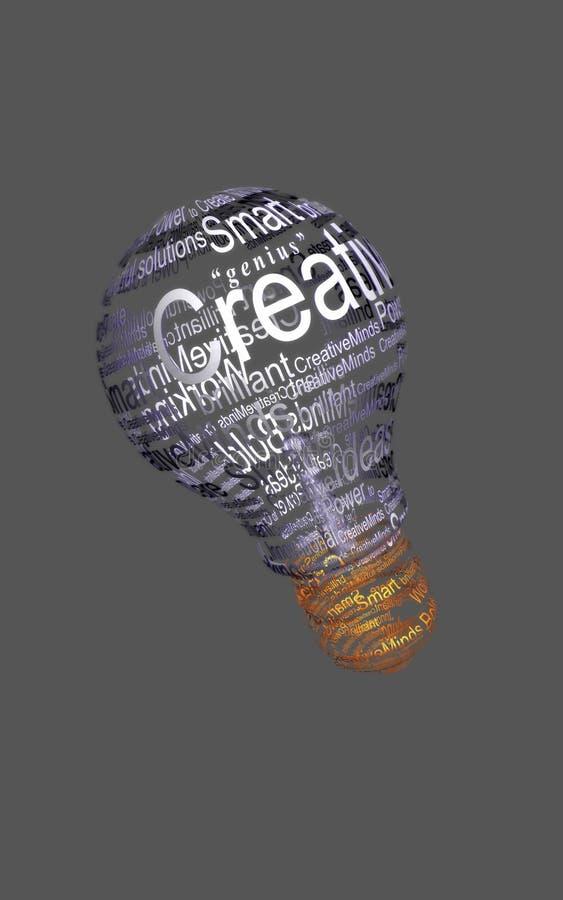 3个电灯泡创造性的光 皇族释放例证