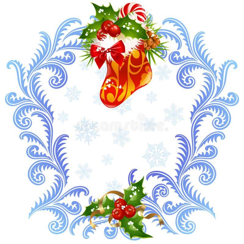 3个看板卡圣诞节招呼的新年度 向量例证