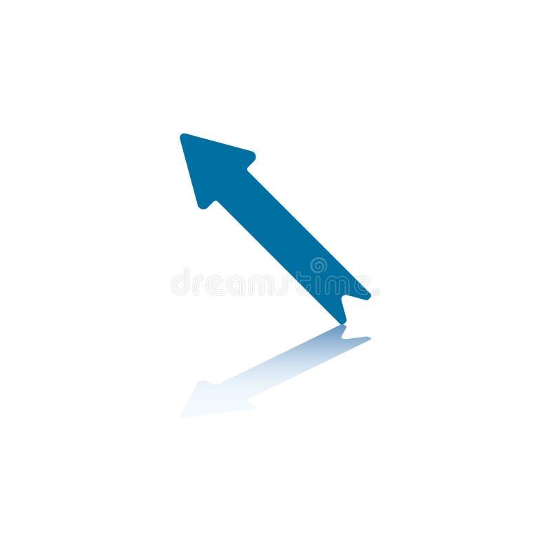 3个箭头对角线 库存例证