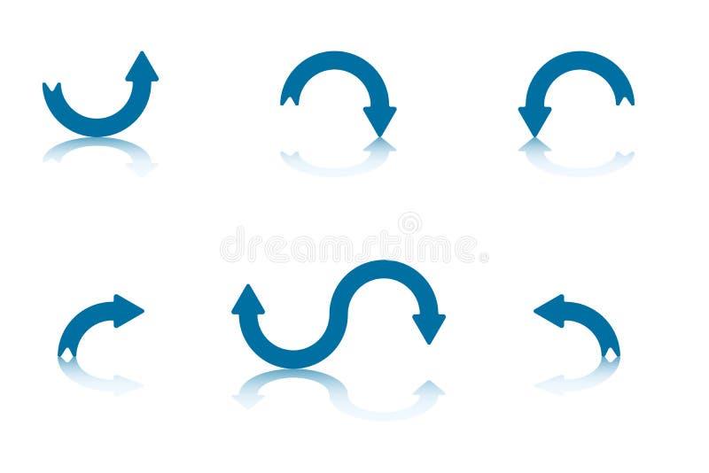 3个箭头收集反映 皇族释放例证