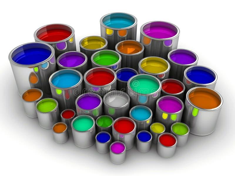 3个罐头油漆