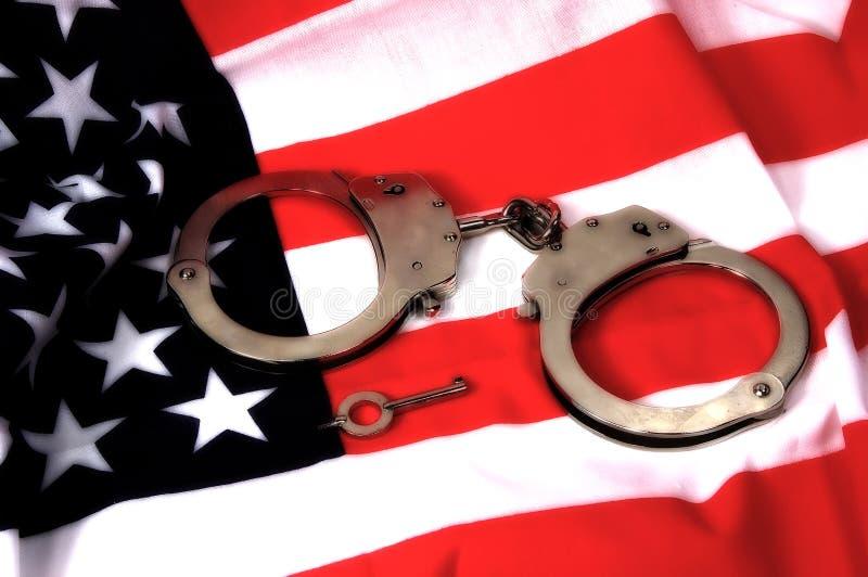 3个美国人正义 库存照片