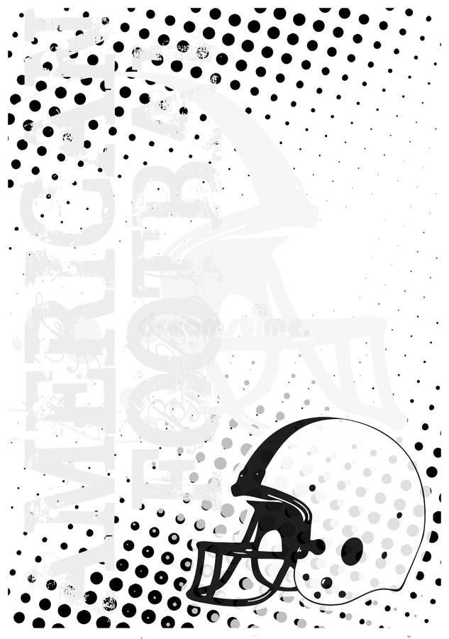 3个美国背景小点橄榄球海报 库存例证
