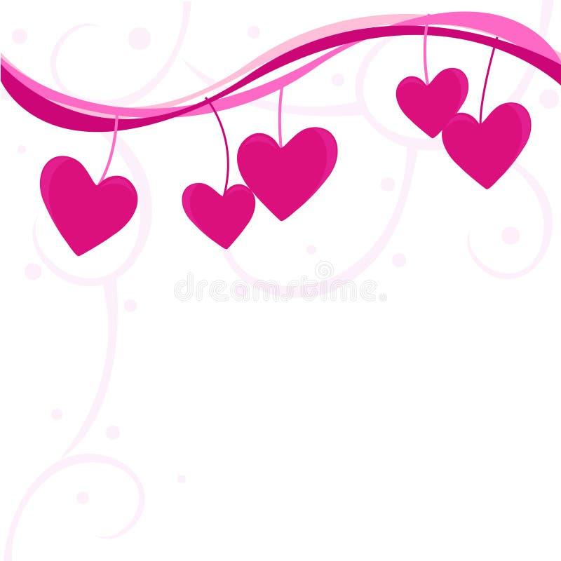 3个背景爱 向量例证