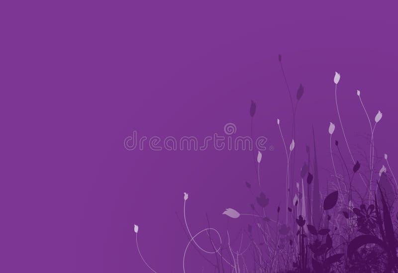 3个背景紫色春天 库存图片