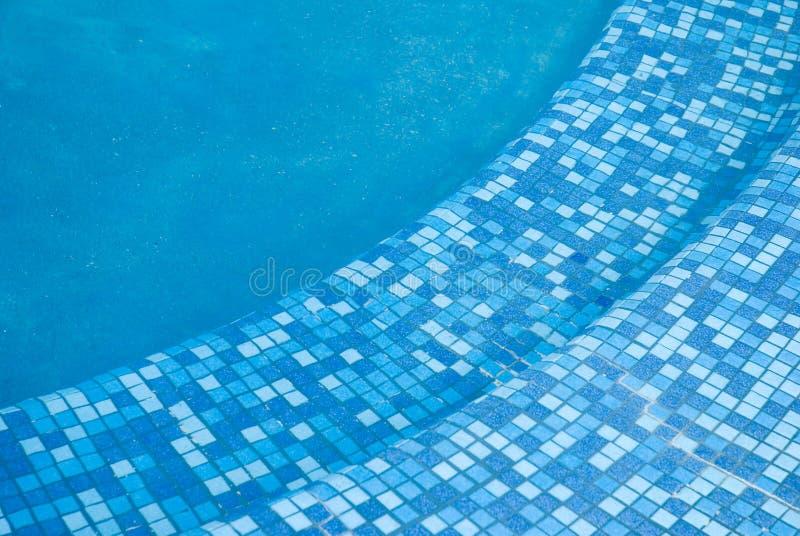 3个背景蓝色池 免版税图库摄影