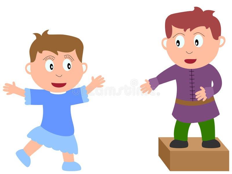 3个艺术工作孩子 向量例证