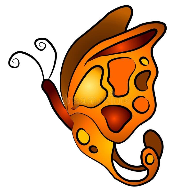 3个艺术蝴蝶夹子查出 皇族释放例证