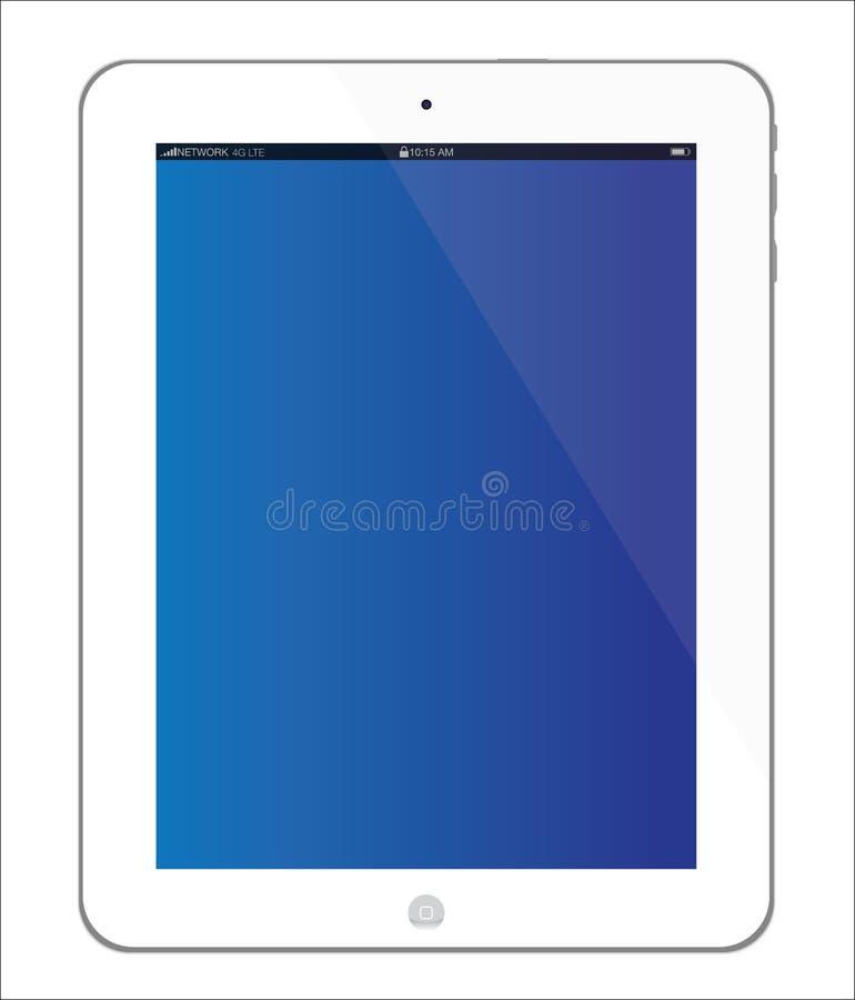 3个苹果ipad新的片剂白色 向量例证
