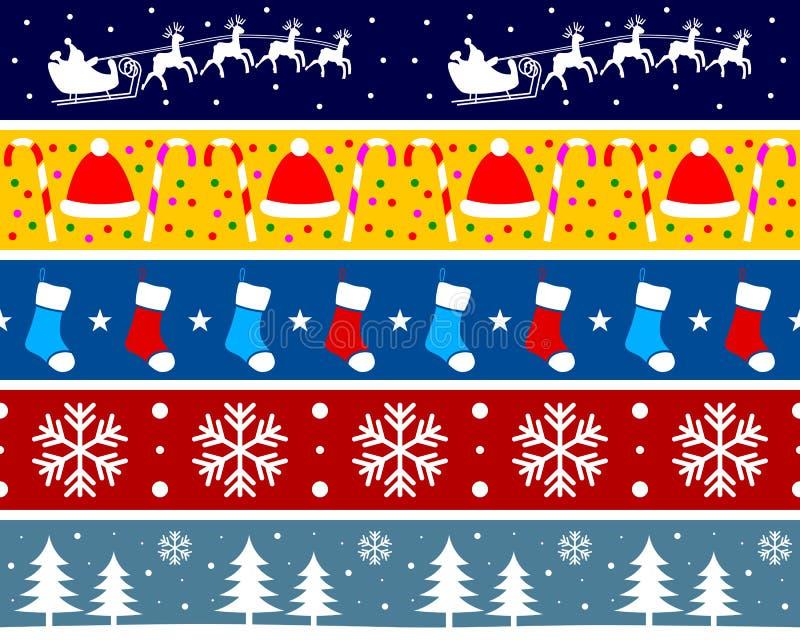 3个边界圣诞节集 皇族释放例证