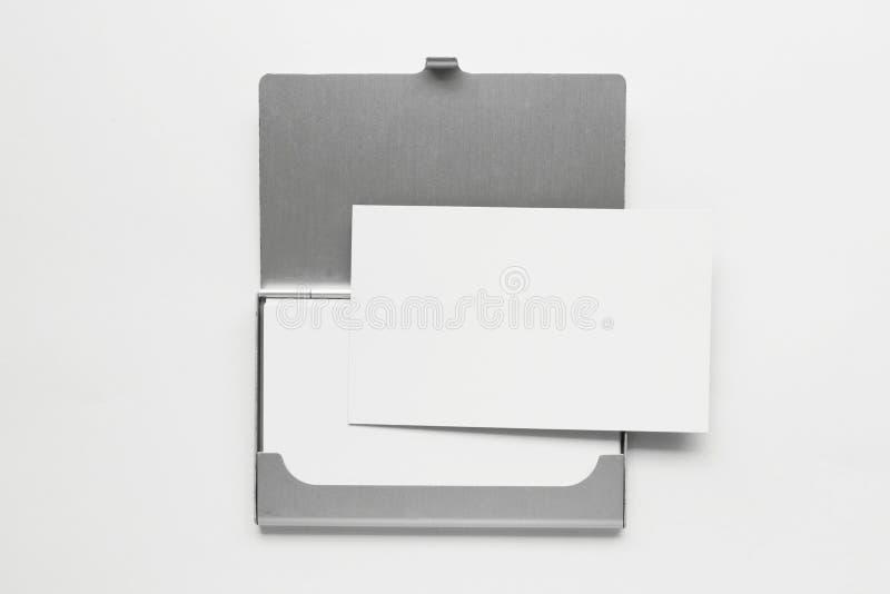 3个配件箱名片 库存照片