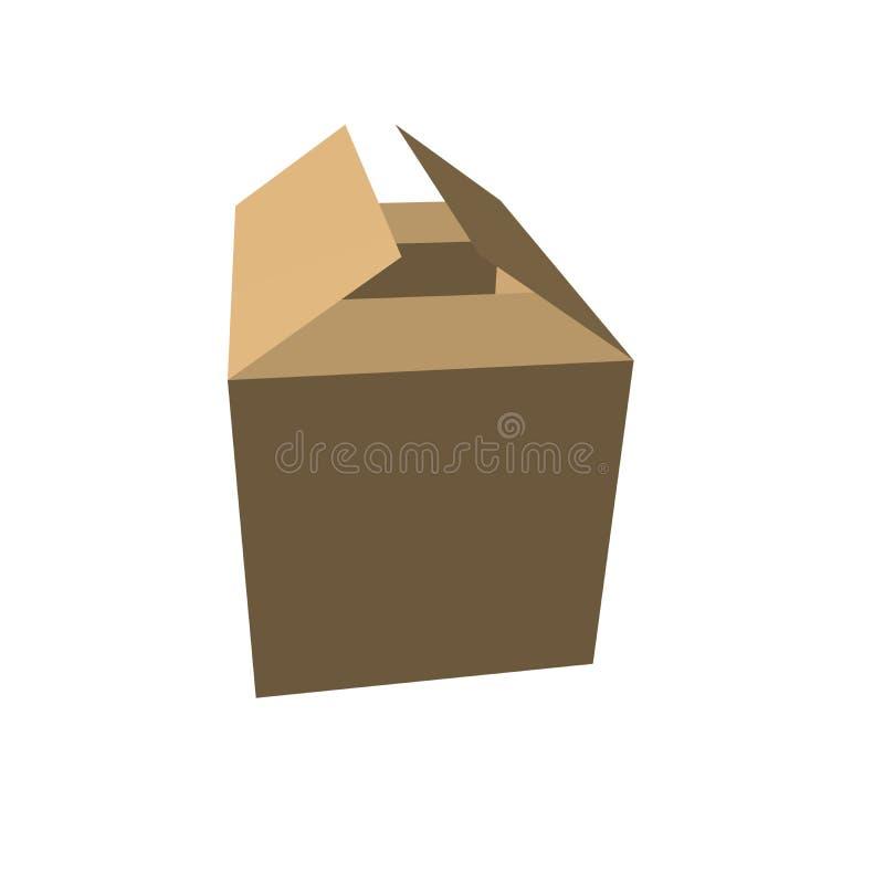 3个配件箱褐色 图库摄影