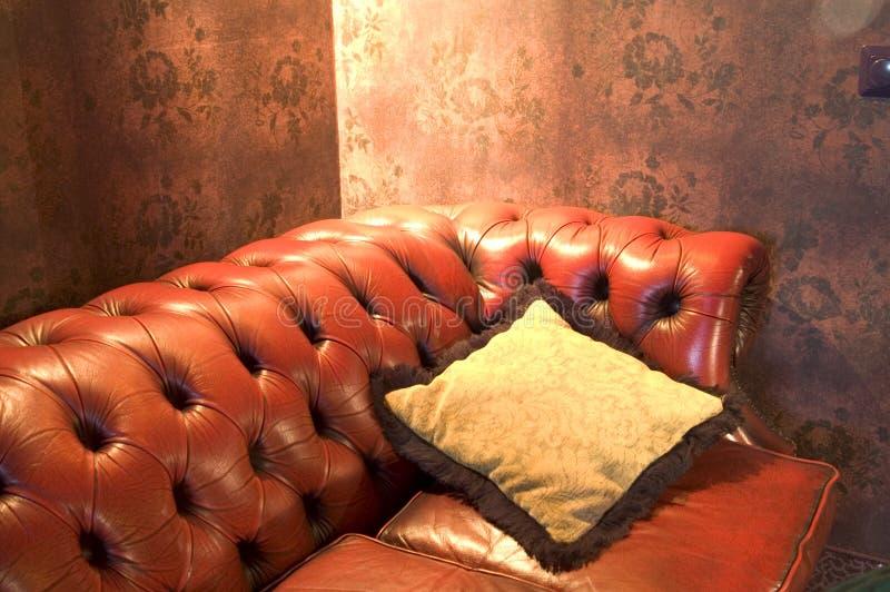3个长沙发皮革 免版税库存图片