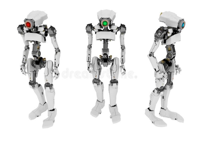 3亭亭玉立的机器人 向量例证