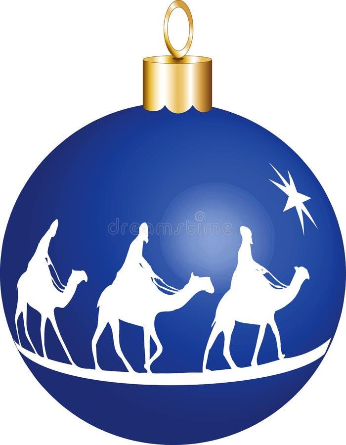 3位圣诞节国王装饰品 皇族释放例证