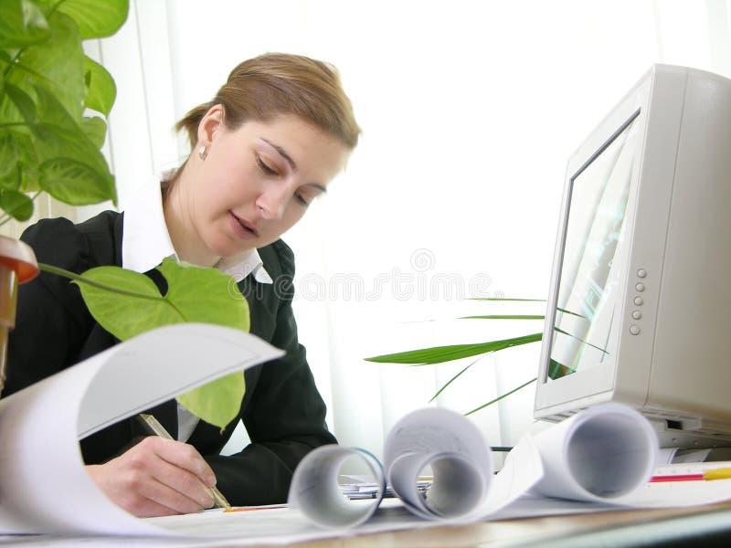 3位建筑师工作 免版税库存图片