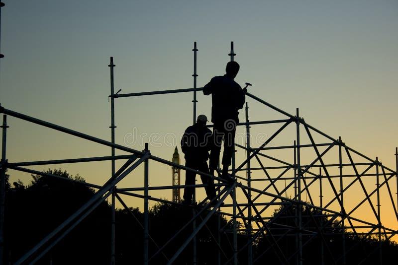 3位建造者 免版税库存图片