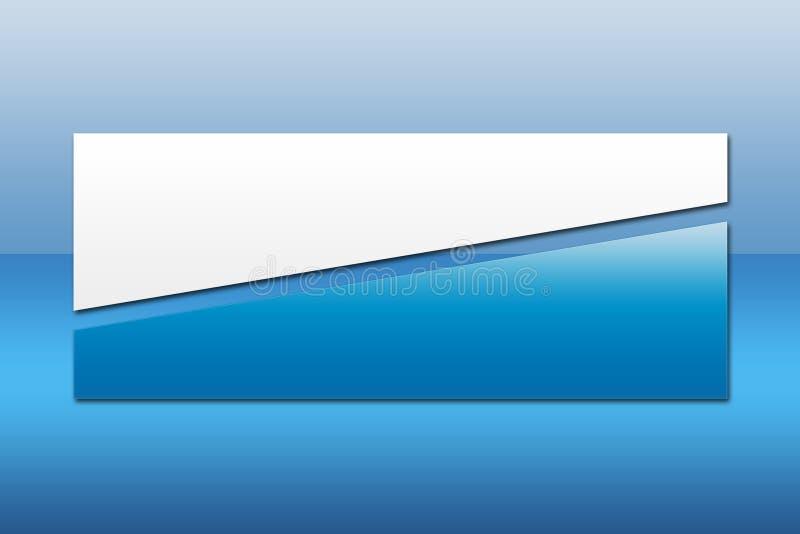 3副横幅蓝色 皇族释放例证