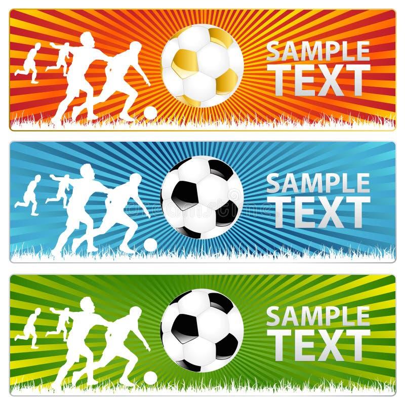 3副球横幅橄榄球足球向量 向量例证