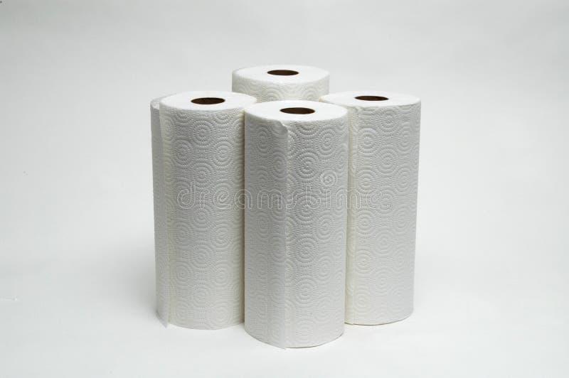 3卷毛巾纸 免版税库存照片