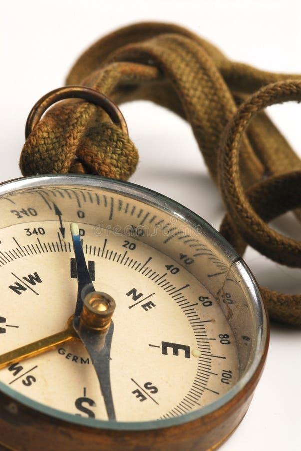3古色古香的指南针表面 库存图片