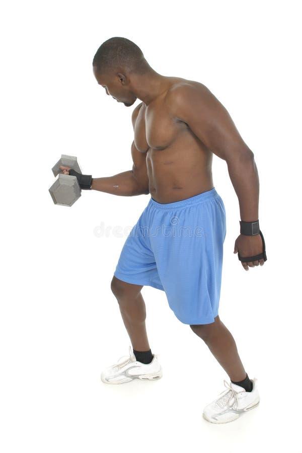3台起重器男重量 免版税图库摄影