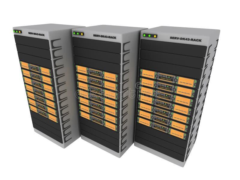 3台3d桔子服务器 皇族释放例证