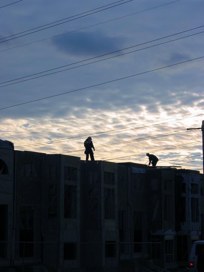 3名建筑工人 免版税库存照片