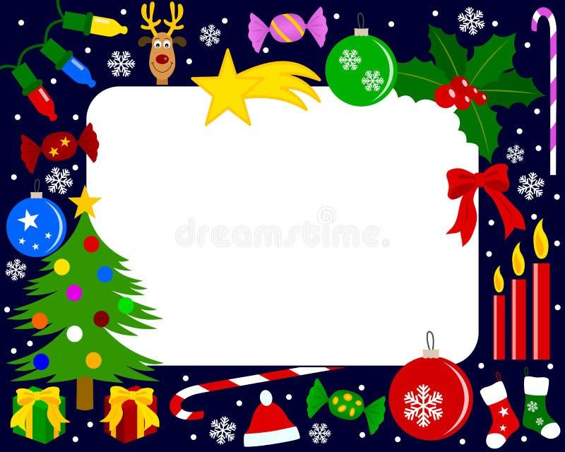 3圣诞节框架照片 向量例证