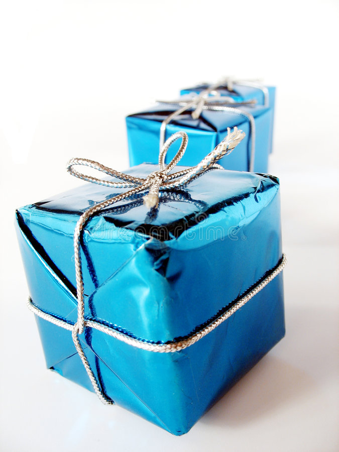 3圣诞节礼物 免版税库存照片