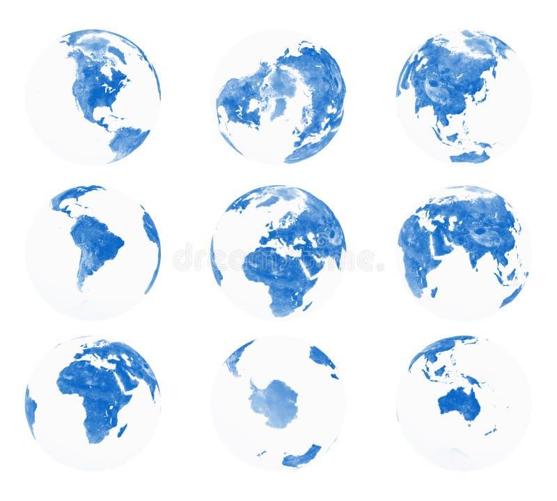 3地球地球射击 向量例证