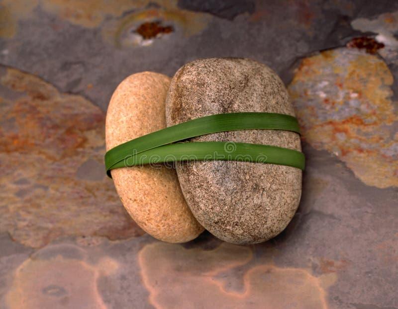 3块石石头 库存图片