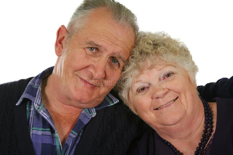 3对夫妇愉快的前辈 库存照片