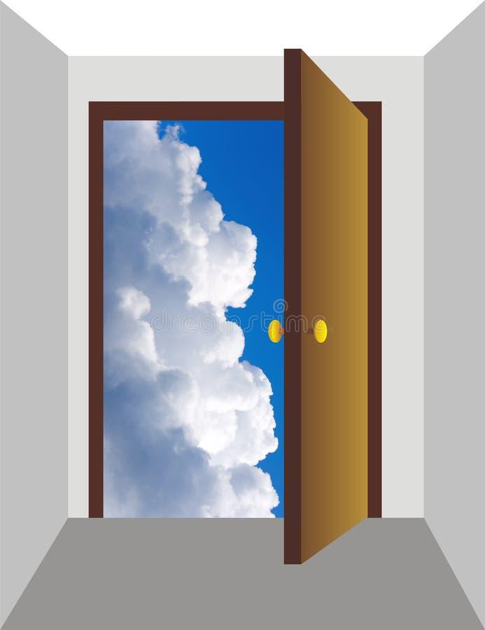 3开放的门 向量例证