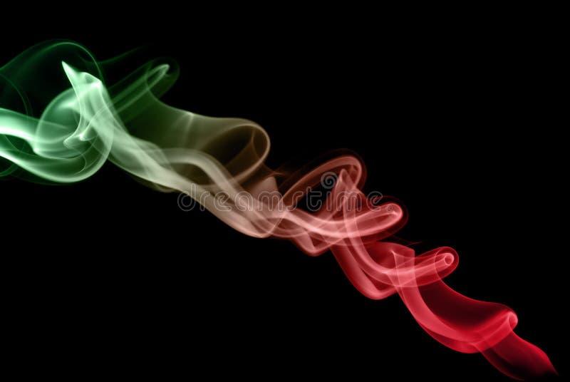 3彩色烟幕 库存照片