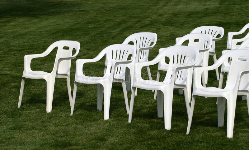 3把椅子倒空 免版税库存图片