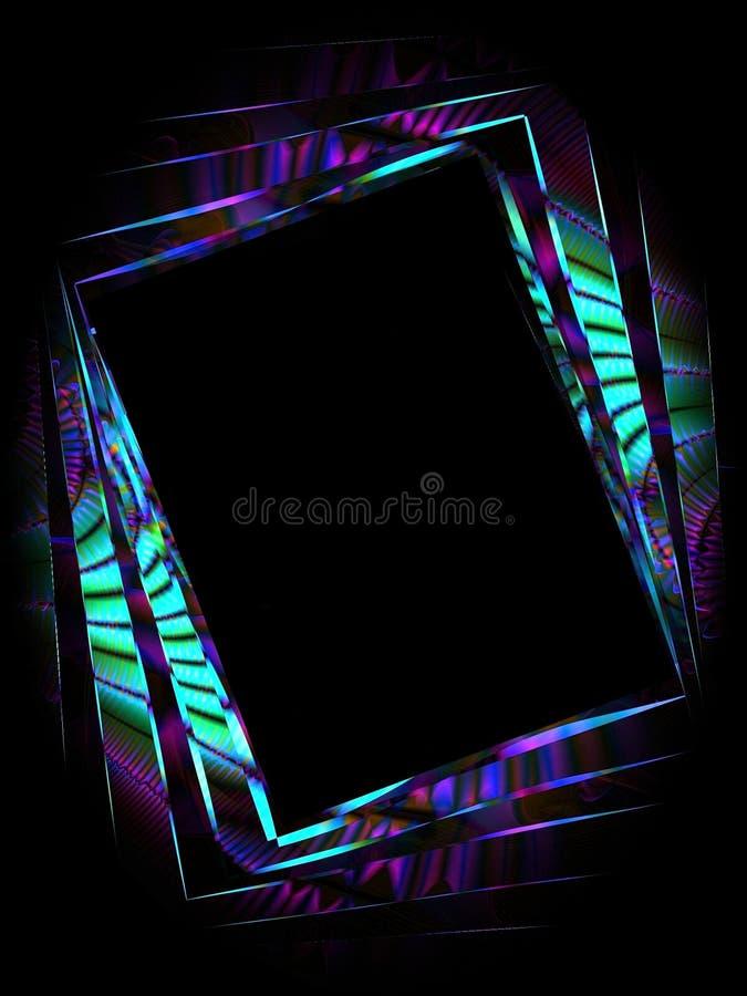 3抽象框架照片照片 库存例证