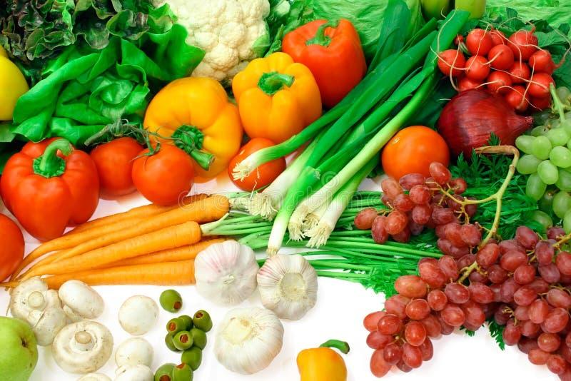3排列果菜类 库存照片
