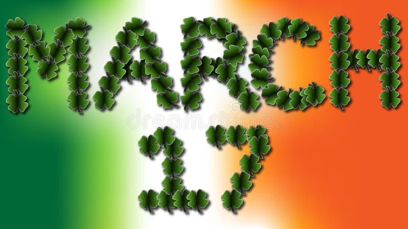 3月17日爱尔兰三叶草 库存图片