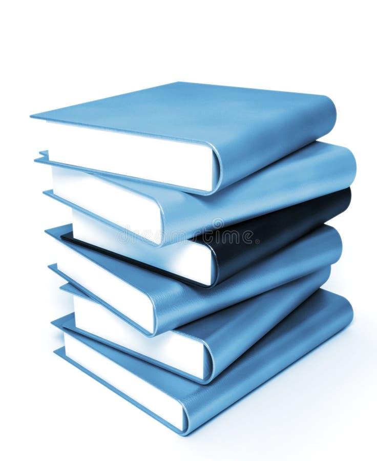 3本书上色了大量 库存照片