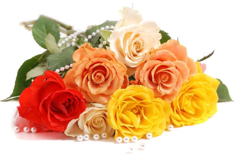 3朵玫瑰华伦泰 图库摄影