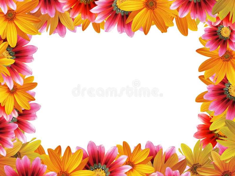 3朵花框架 免版税图库摄影