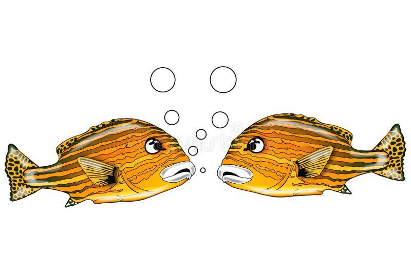 3条鱼谈话 库存例证