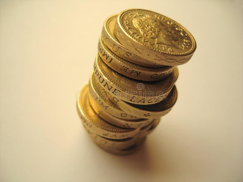 3枚硬币 库存图片