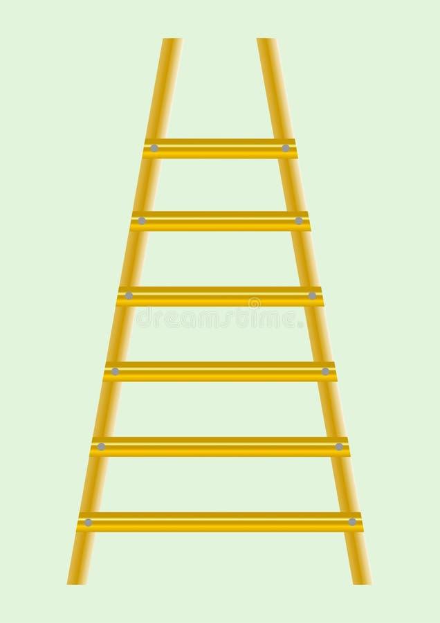 3架梯子版本 向量例证